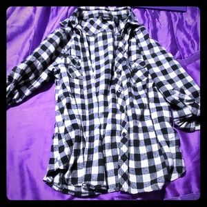 rue21 button sleeve flannel